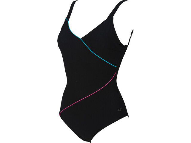 arena Tiffany U Back One Piece Swimsuit Women black-persian green-rose viole